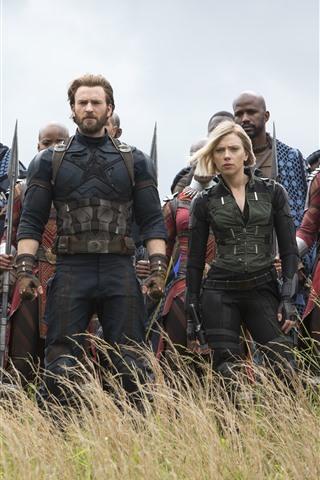iPhone Wallpaper Avengers: Infinity War, DC Comics, 2018 movie