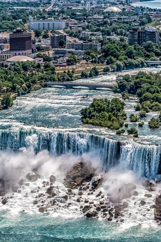 iPhone Wallpaper Beautiful waterfalls, Niagara Falls, New York, USA