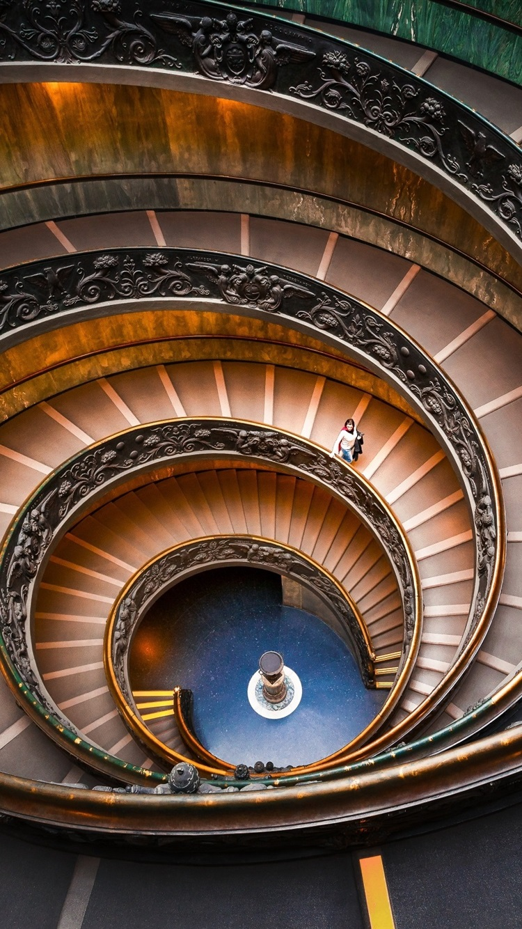 Bramante Staircase Spiral Vatican Museums 750x1334 Iphone