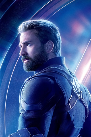 iPhone Wallpaper Captain America, Avengers: Infinity War