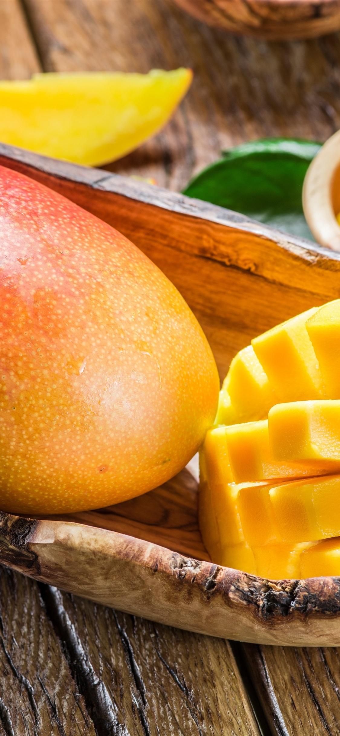 美味的芒果 新鲜水果1125x2436 Iphone 11 Pro Xs X 壁纸 图片 背景 照片