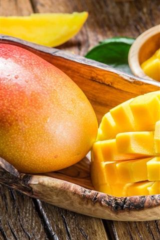 iPhone Wallpaper Delicious mango, fresh fruit