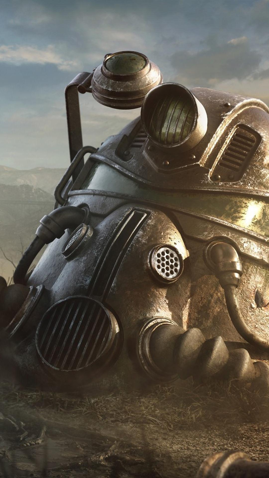 Fallout 4 Helmet 1080x1920 Iphone 8 7 6 6s Plus Wallpaper