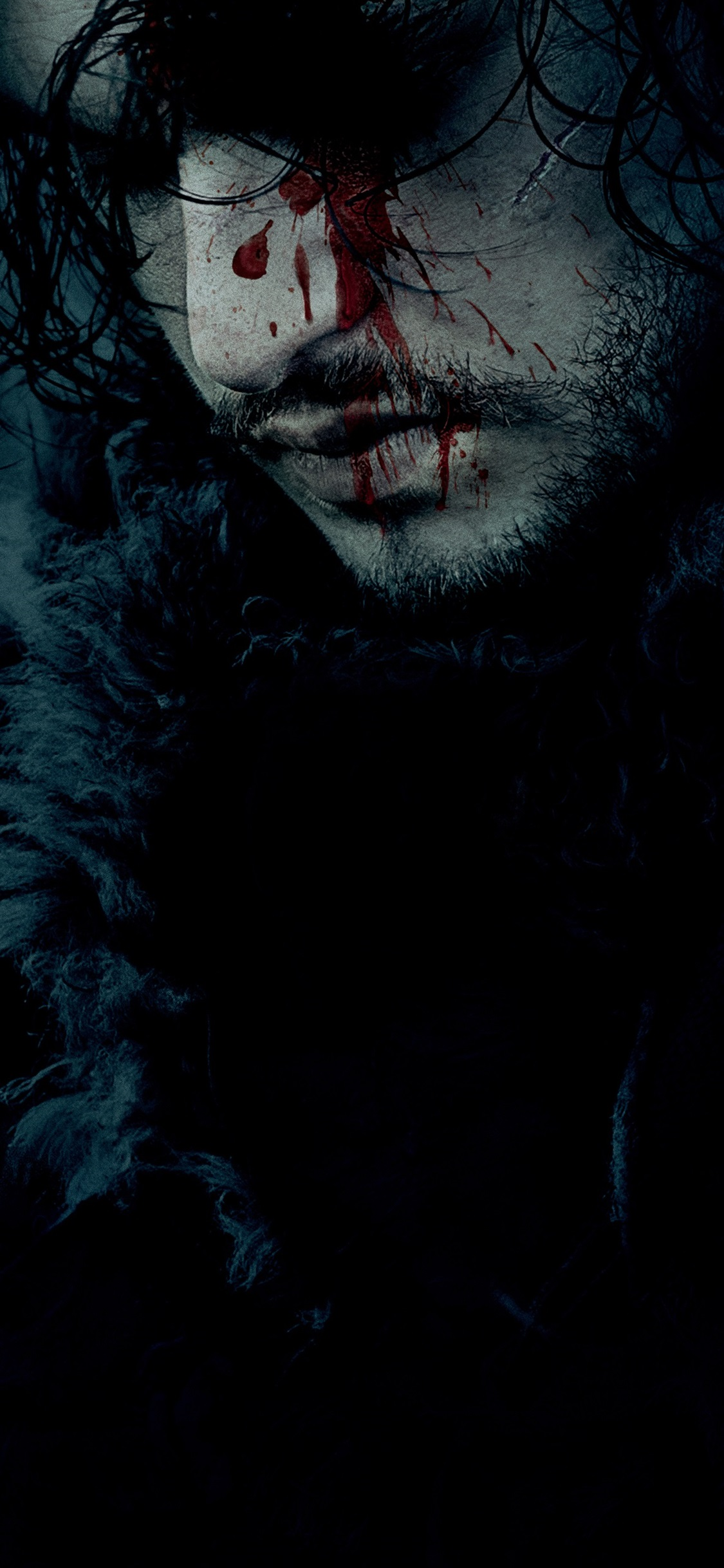 Game Of Thrones Face Blood 1125x2436 Iphone Xsx Wallpaper