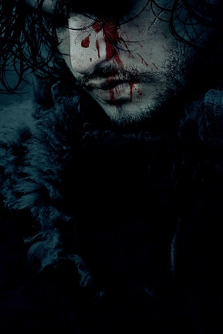 iPhone Wallpaper Game of Thrones, face, blood