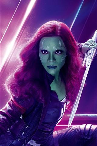 iPhone Wallpaper Gamora, Avengers: Infinity War