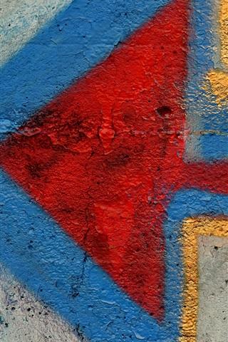 iPhone Wallpaper Graffiti, wall, arrow, sign