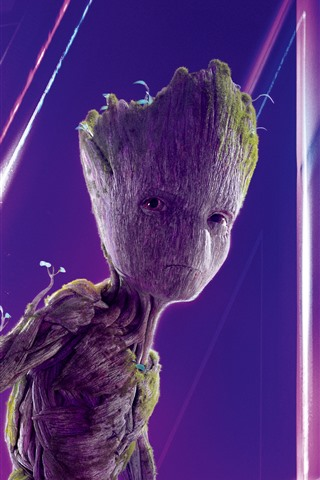 iPhone Wallpaper Groot, Avengers: Infinity War