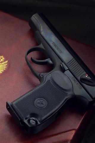 iPhone Wallpaper Gun, box, weapon