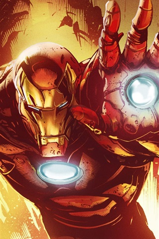 Iron Man Marvel Comics Art Picture 640x1136 Iphone 55s5c