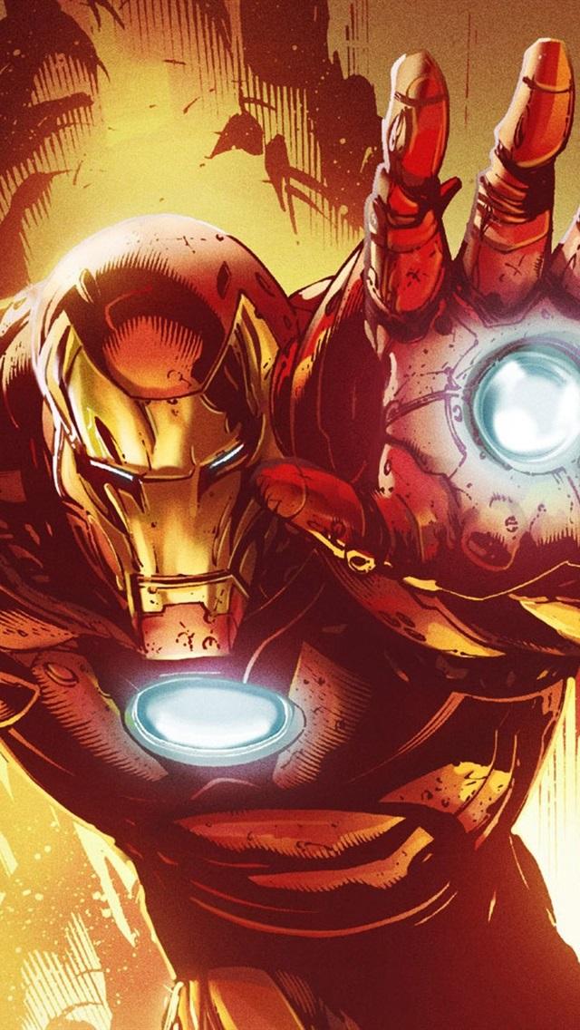 Iron Man Marvel Comics Art Picture 640x1136 Iphone 55s5c