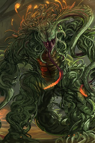 iPhone Wallpaper Mutant monster, art picture