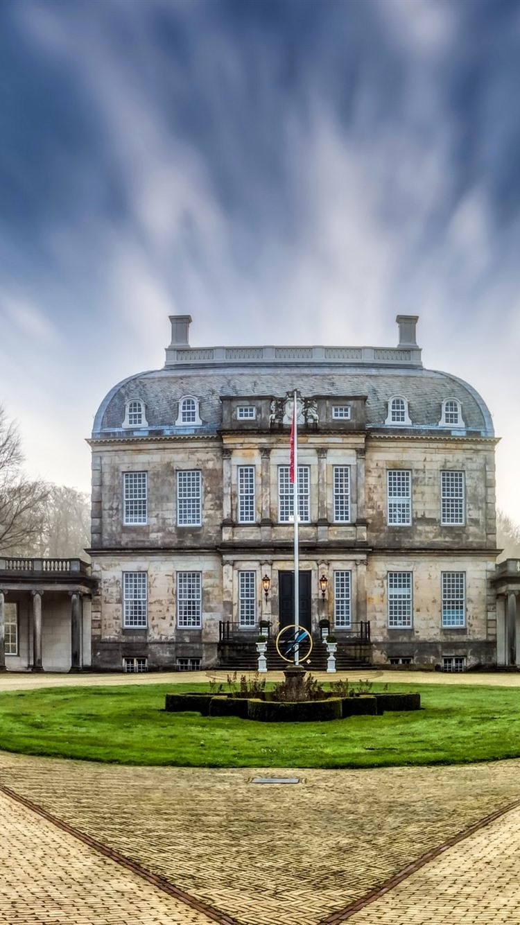 Netherlands Mansion Houses Trees 750x1334 Iphone 8766s