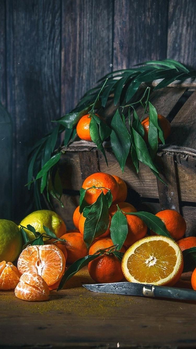 オレンジ 柑橘類 レモン バスケット フルーツ 750x1334 Iphone 8 7 6 6s 壁紙 背景 画像