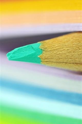 Lápiz, libro, páginas coloridas 750x1334 iPhone 8/7/6/6S Fondos de ...