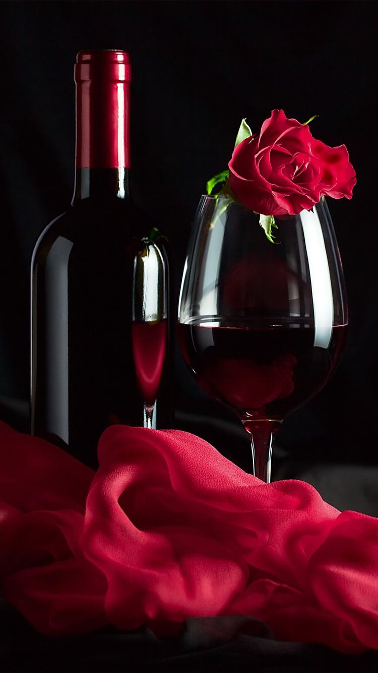 Wallpaper Red Wine Rose Silk Romantic 3840x2160 Uhd 4k
