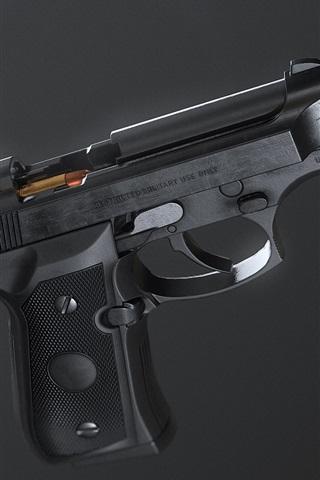 iPhone Wallpaper Self-loading pistol, weapon