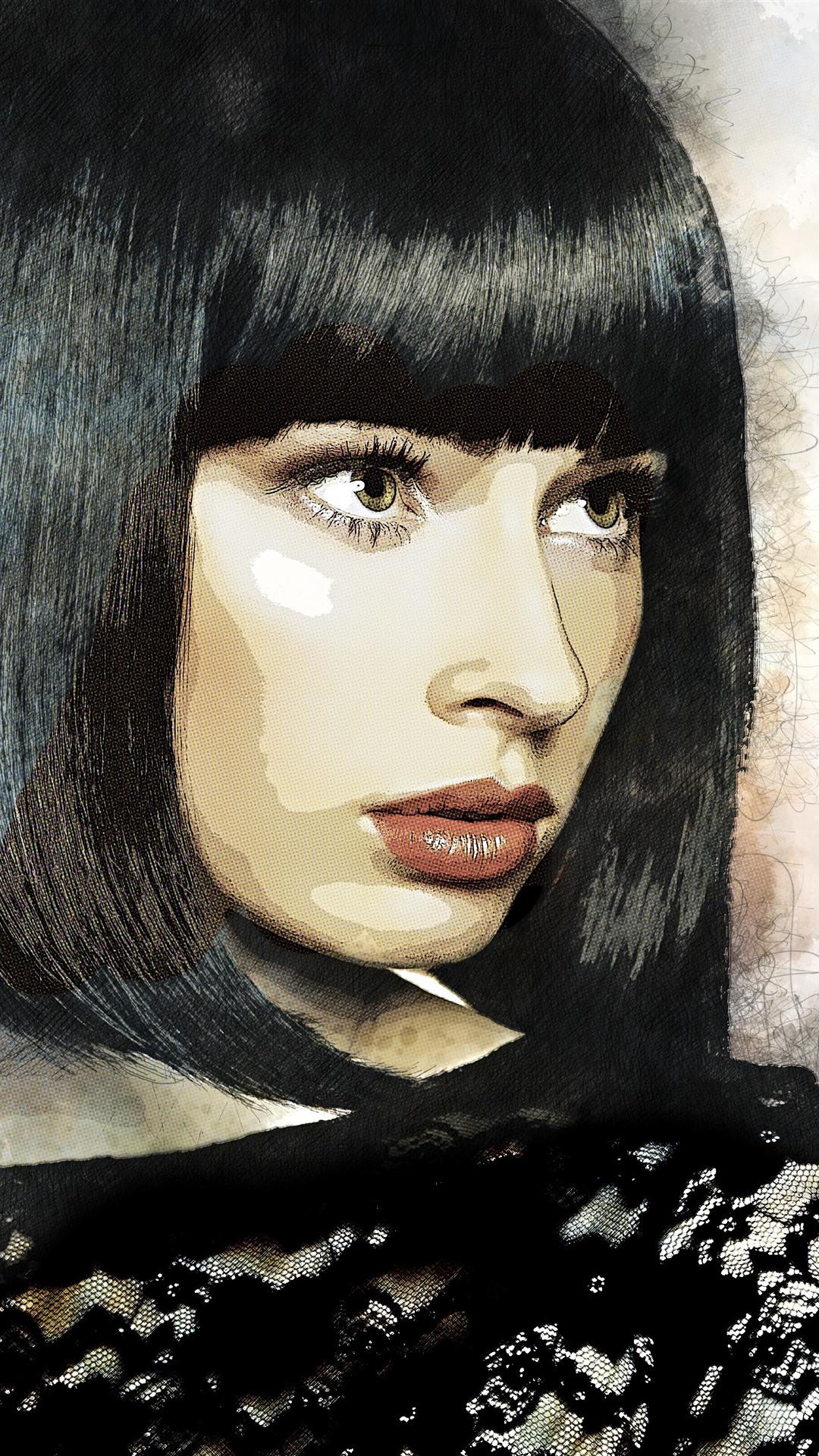 Wallpaper Short hair girl, hair style ...
