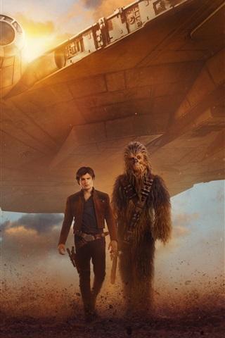 iPhone Wallpaper Star Wars, spaceship, man, warrior