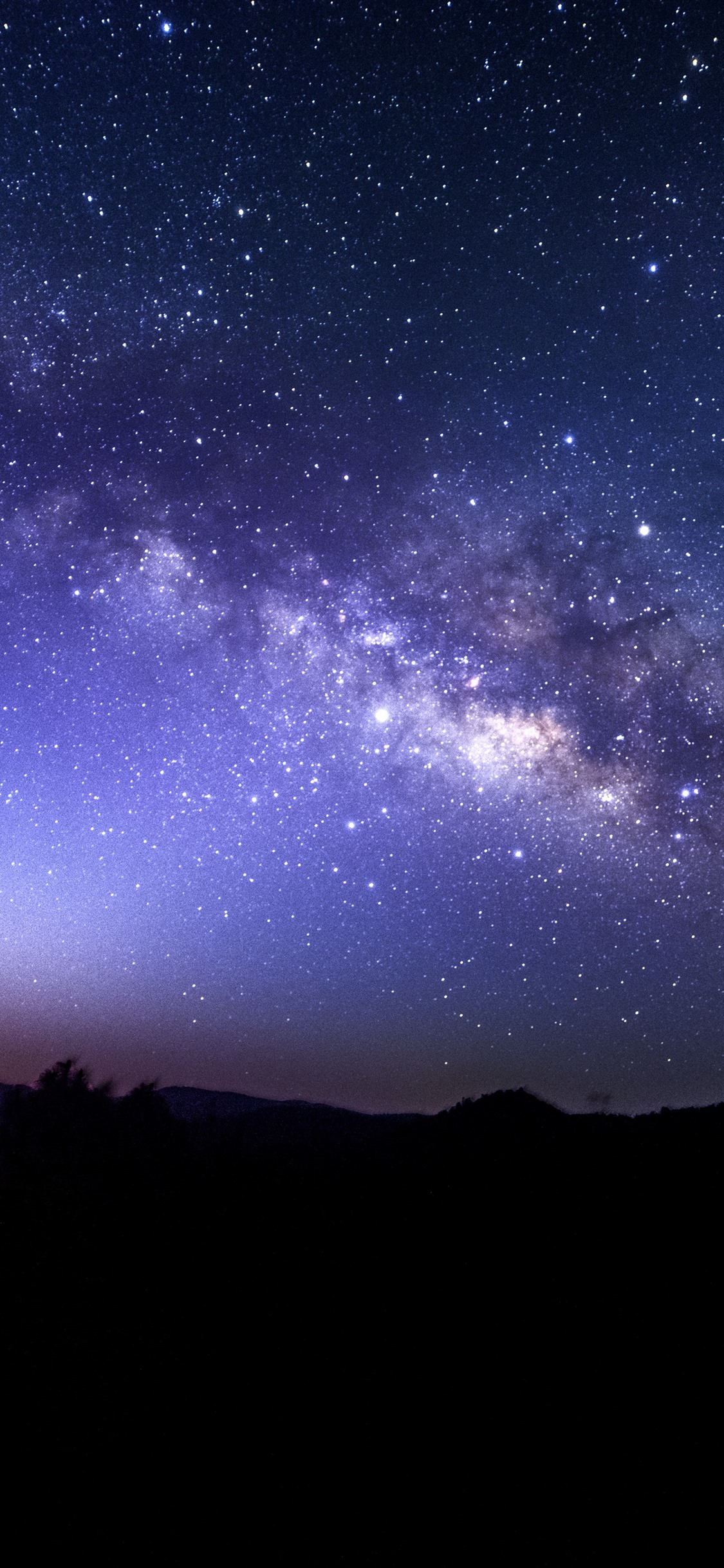 Starry Sky Stars Night 1125x2436 Iphone Xs X Wallpaper
