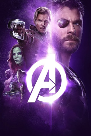 iPhone Wallpaper The Avengers: Infinity War, superheroes, black background