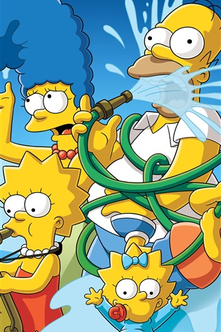 iPhone Wallpaper The Simpsons, cartoon, anime