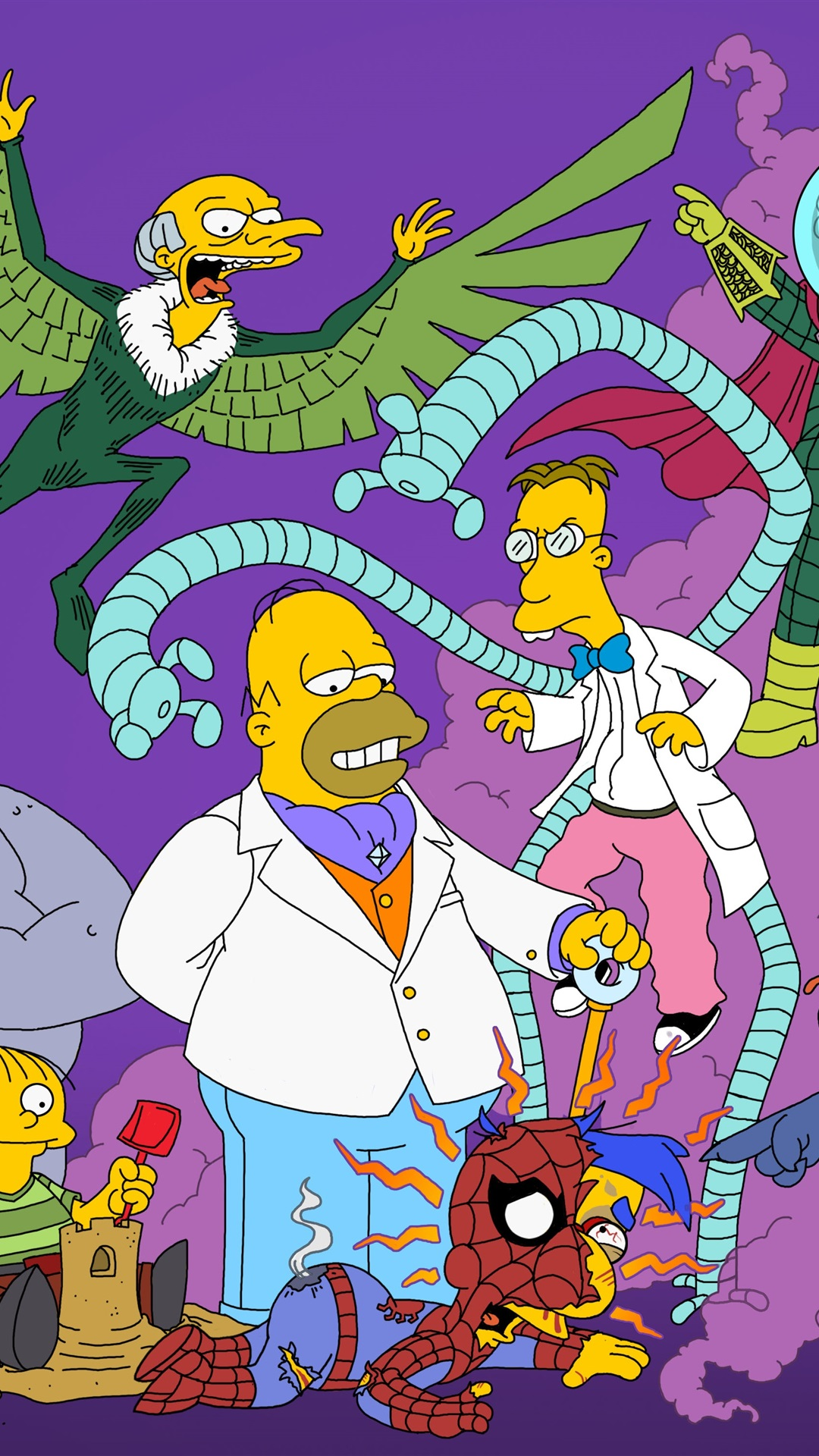 The Simpsons 1125x2436 Iphone Xs X Wallpaper Background
