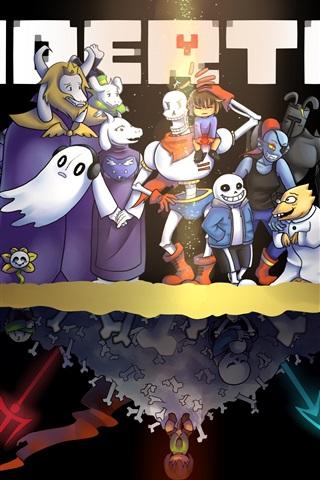 iPhone Papéis de Parede Undertale, jogo de RPG