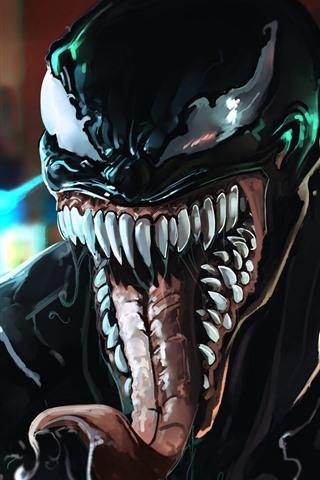 iPhone Hintergrundbilder Venom, DC Comics, Kunstbild