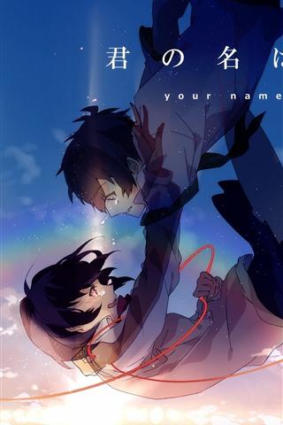 iPhone Papéis de Parede Seu nome, anime japonês