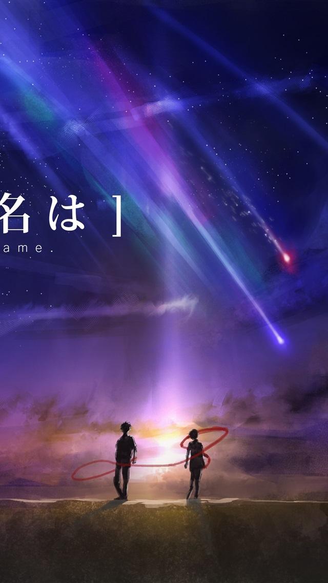 Your Name, anime movie, beautiful night, meteor 1080x1920 ...