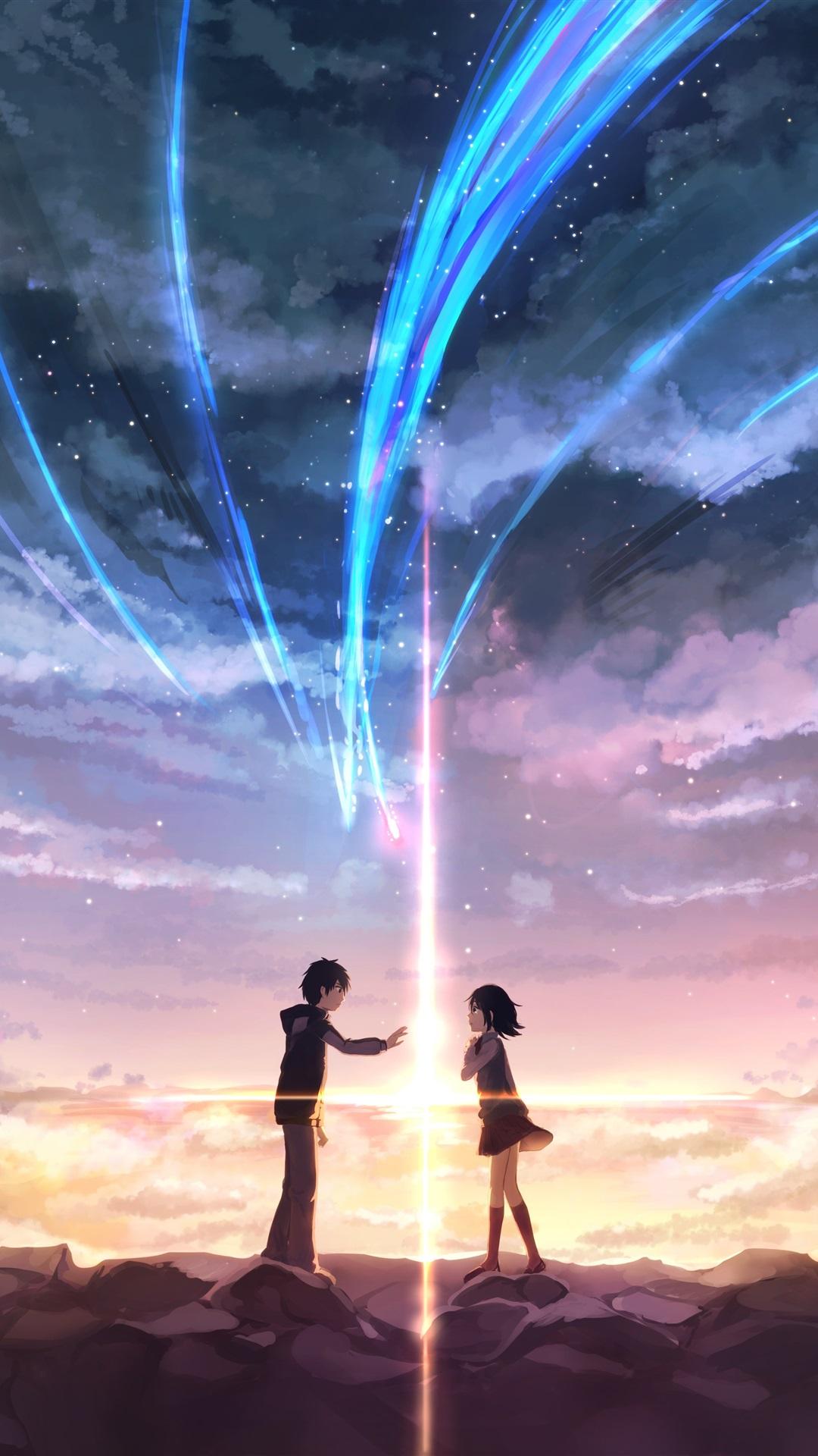 Your Name Girl And Boy Love Japanese Anime 1125x2436