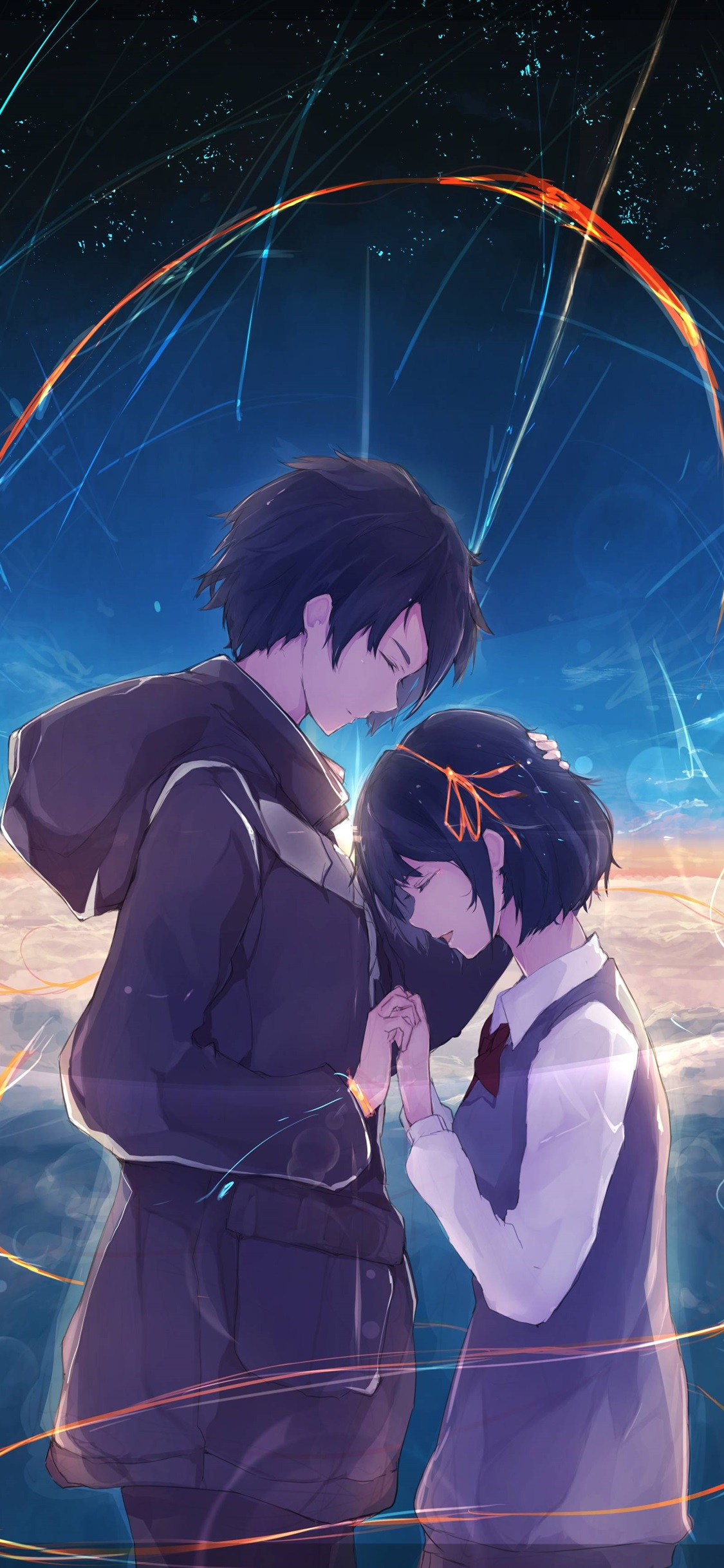 Your Name Happiness Boy And Girl Anime 1125x2436 Iphone 11 Pro