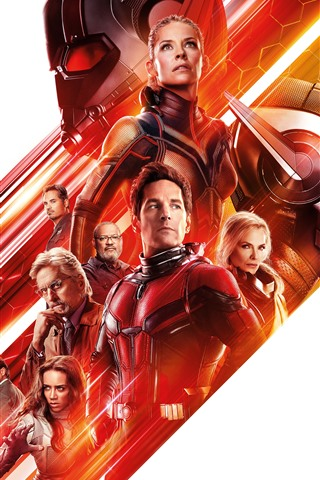 iPhone Wallpaper Ant-Man and the Wasp, 8K movie