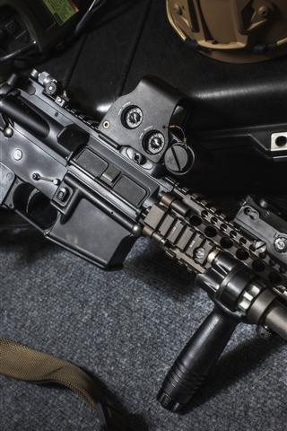 Assault Rifle Military Equipment Weapon 1125x2436 Iphone