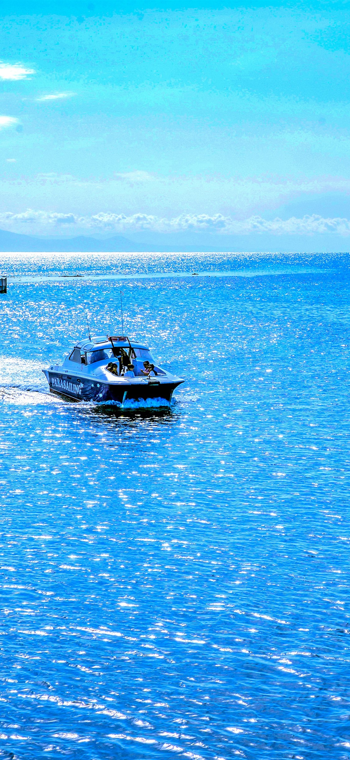 Australia Beautiful Blue Sea Boat 1242x2688 Iphone Xs Max