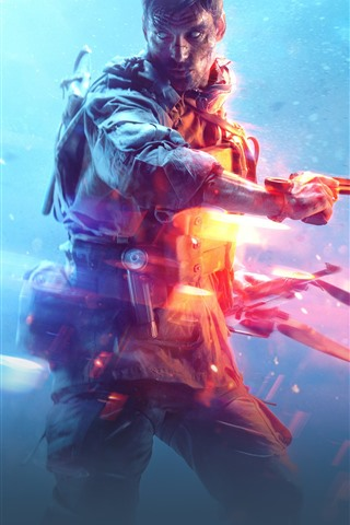 iPhone Wallpaper Battlefield 5, EA games, soldier