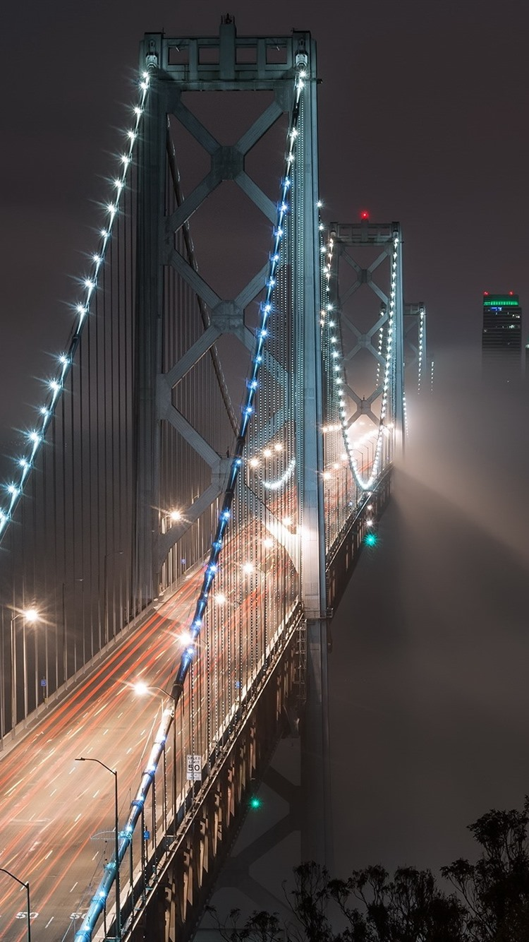Fonds Décran Bay Bridge San Francisco Etats Unis Nuit