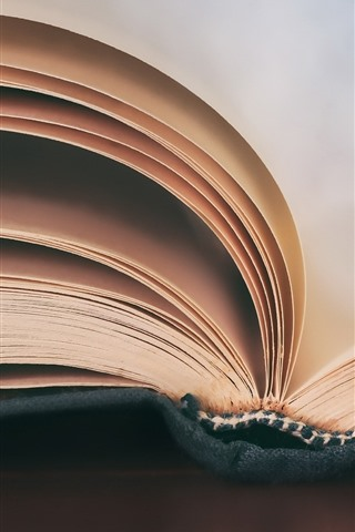 iPhone Wallpaper Book, papers, hazy