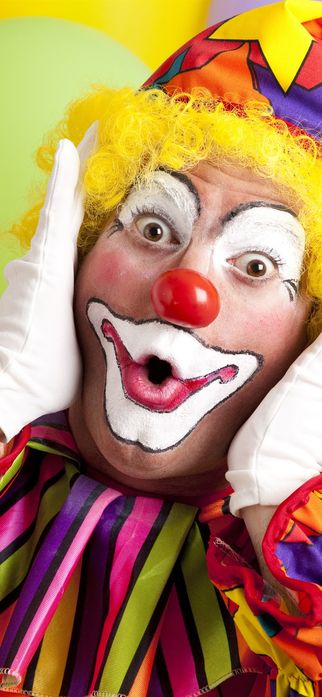 Clown Colorful Clothes Makeup 1242x2688 Iphone Xs Max