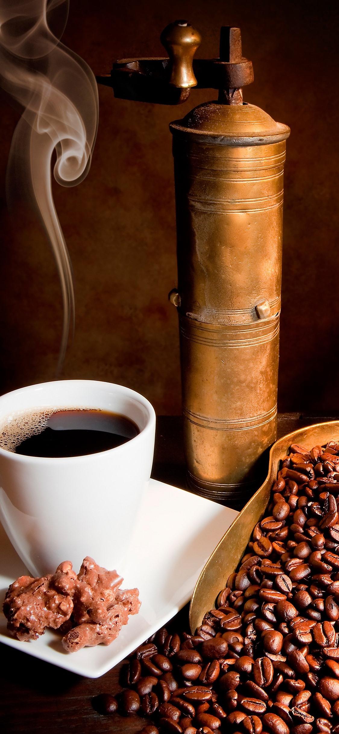 コーヒー豆 カップ コーヒー 本 1125x2436 Iphone 11 Pro Xs X 壁紙 背景 画像