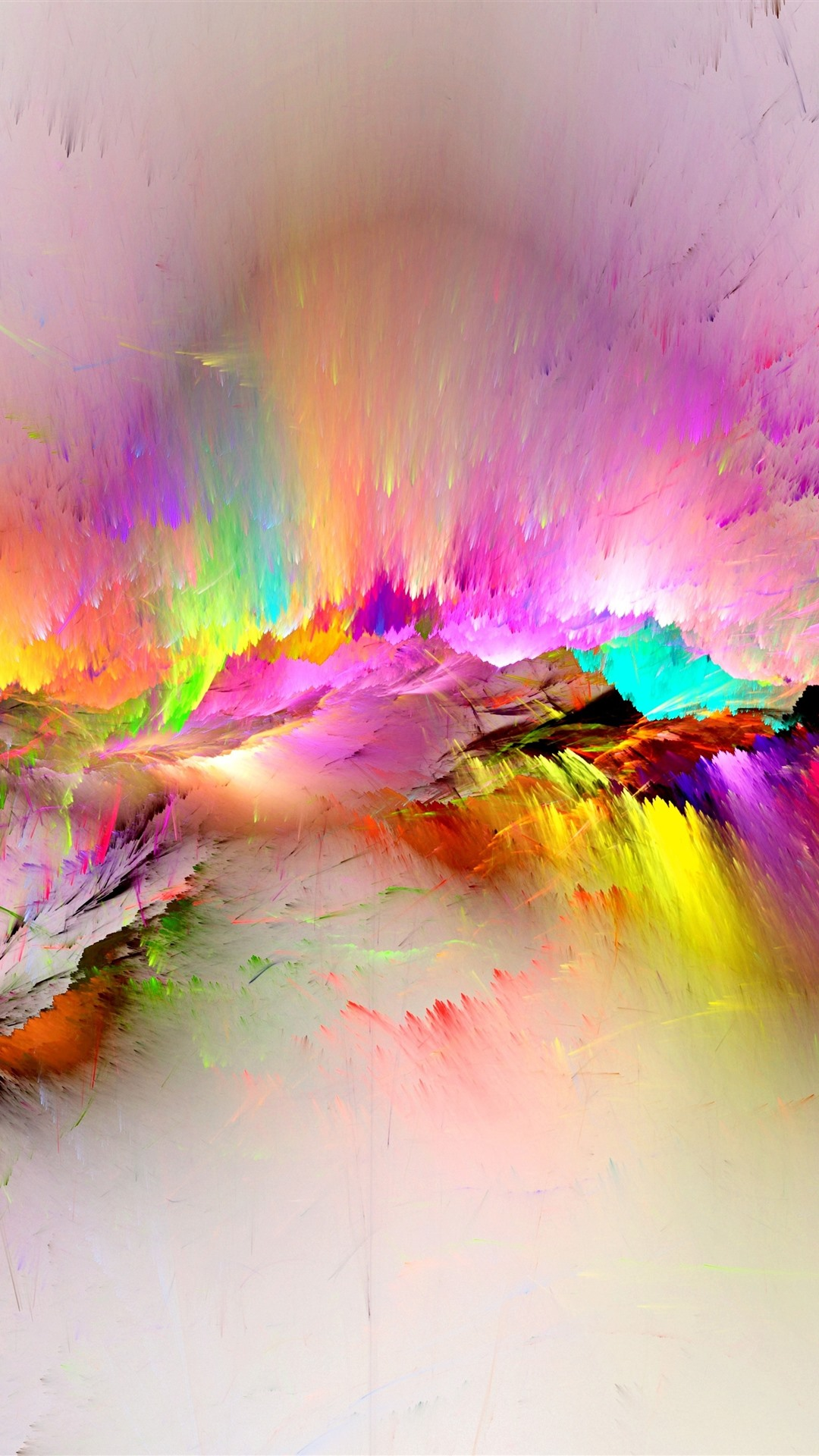 Colorful Paint Rainbow Abstract 1242x2688 Iphone Xs Max