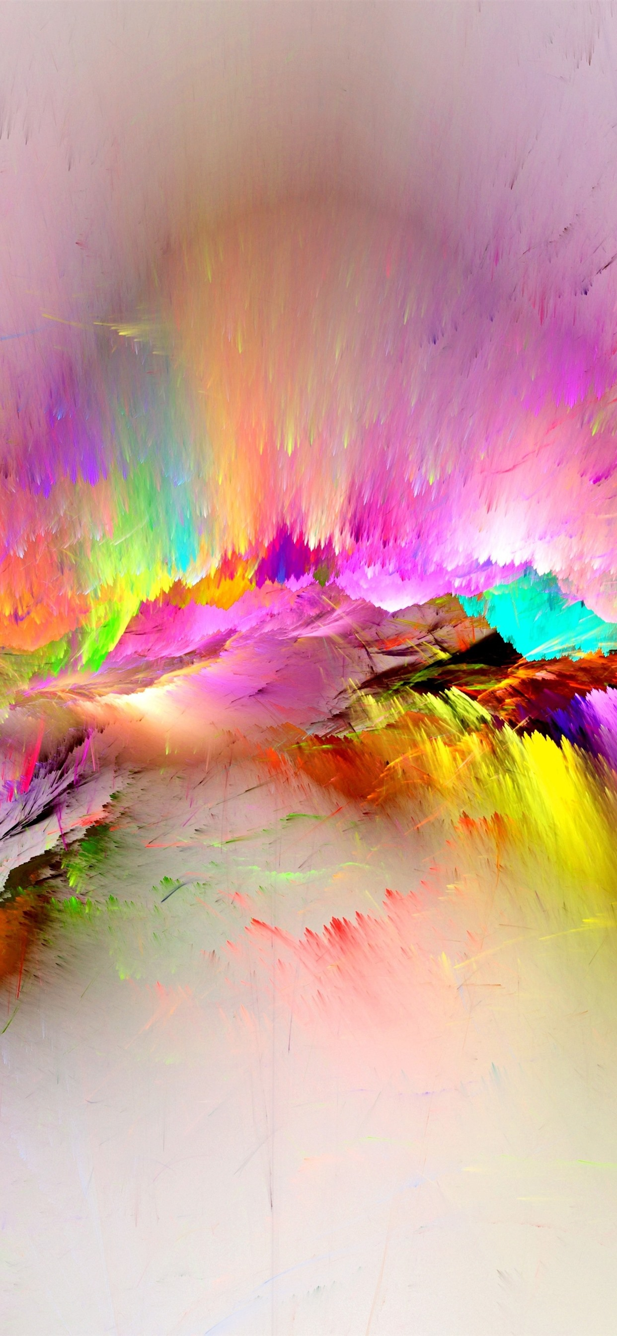 Colorful Paint Rainbow Abstract 1242x2688 Iphone Xs Max Wallpaper