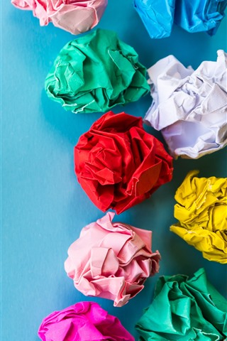 iPhone Wallpaper Colorful paper balls, art picture