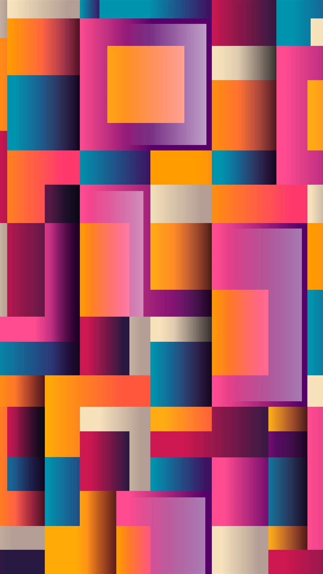 Wallpaper Colorful Squares Geometric Abstract Background