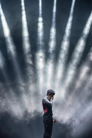 iPhone Wallpaper Concert, stage, lighting, smoke
