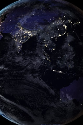 Earth Light Black Background Space 1125x2436 Iphone Xs X