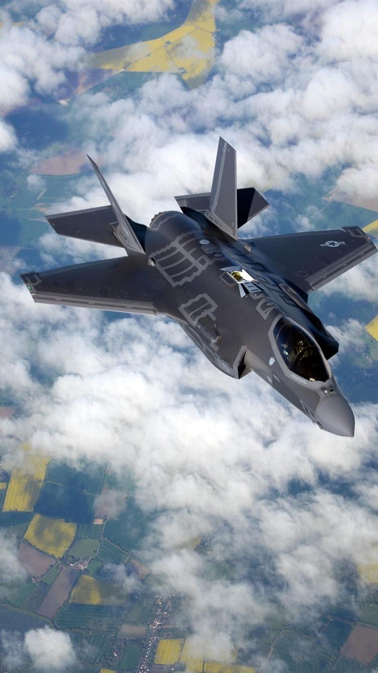Kampfflugzeug F 21B im Himmel, Wolken 21x21 iPhone 21/21/21/21S ...