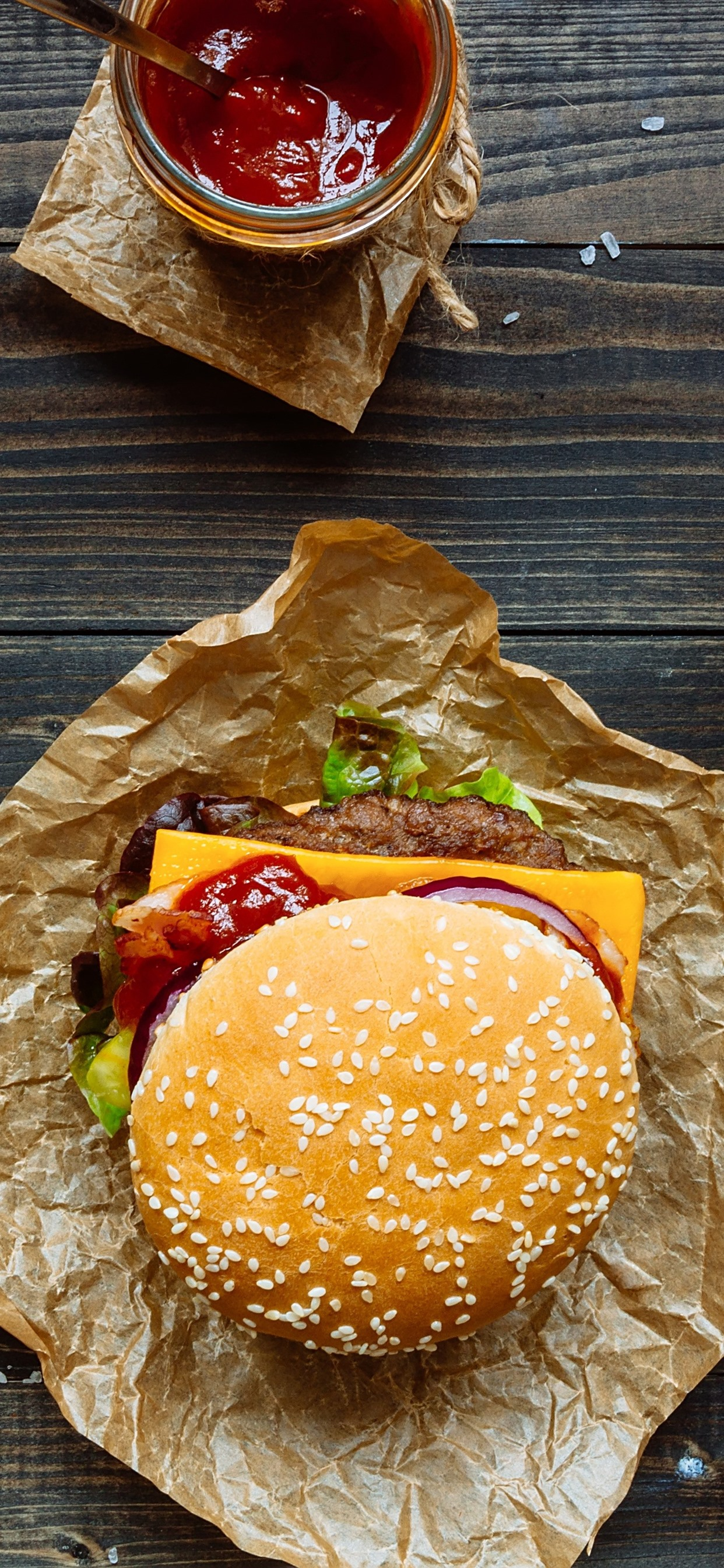 Wallpaper Fast Food Hamburger Sandwich Salad Tomato Cheese Drinks 5120x2880 Uhd 5k Picture Image