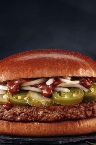 iPhone Wallpaper Fast food, hamburger
